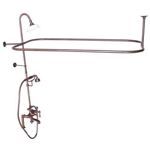Code Rectangular Shower Unit - Lever with Finials / Oil Rubbed Bronze