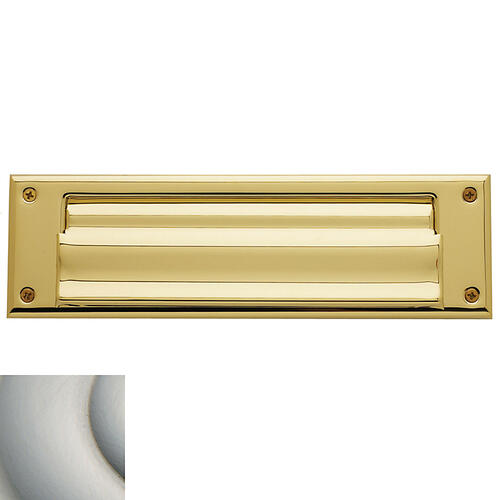 Baldwin - Satin Nickel Letter Box Plates