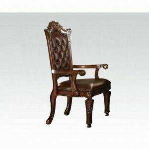 ACME Vendome Executive Chair (Arm) - 92126 - PU & Cherry