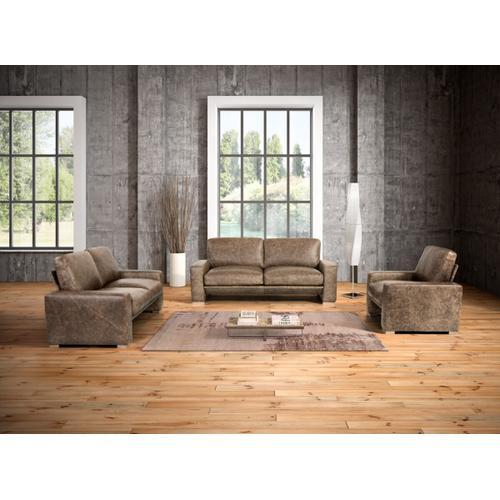 Gallery - Estro Salotti Java Modern Taupe Italian Leather Sofa Set