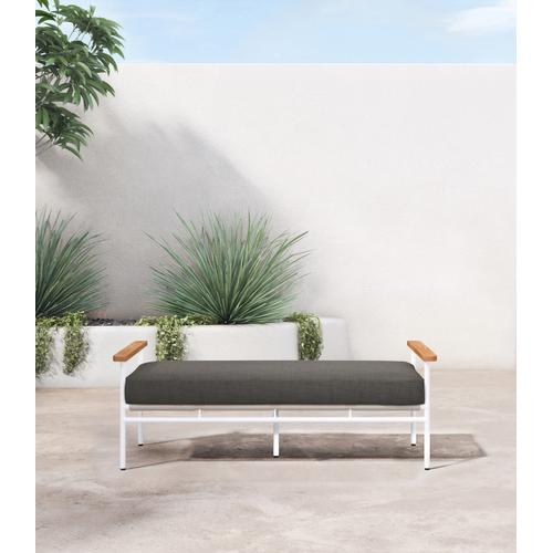 Charcoal Cover Aroba Outdoor Bench