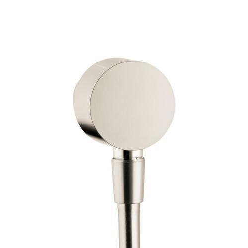 Brushed Nickel Wall Outlet with Check Valves