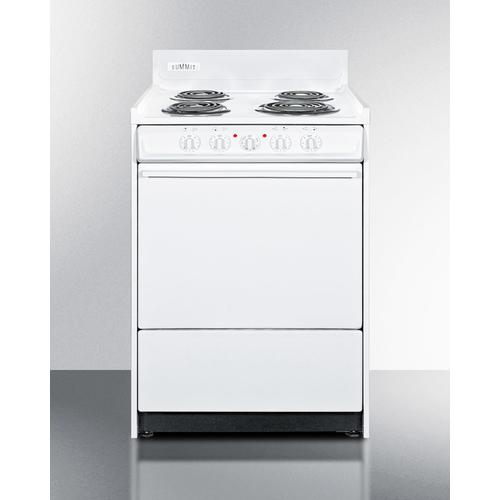 """Gallery - 24"""" Wide Electric Coil Top Range"""