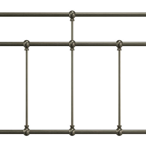 Hillsdale Furniture - Providence Metal King Headboard, Aged Pewter