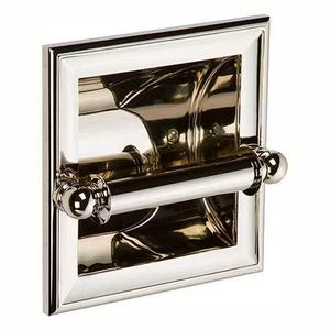 Polished Nickel Recessed Toilet Tissue Holder