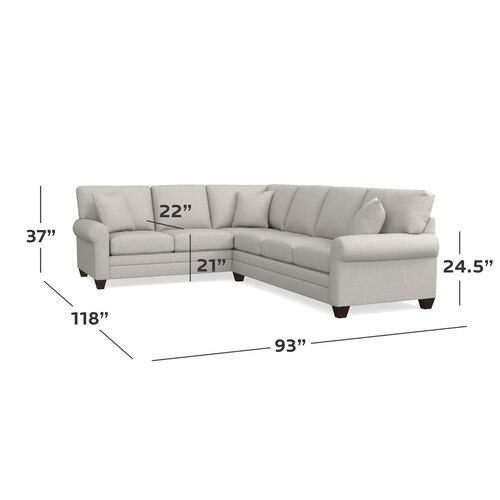 CU.2 Large L-Shaped Sectional, Arm Style Canted