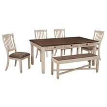 6 Piece Set (Table, 4 Chairs and Bench)