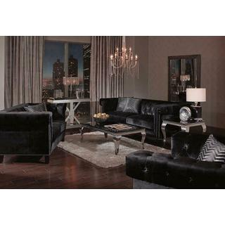 Reventlow Formal Black Three-piece Living Room Set