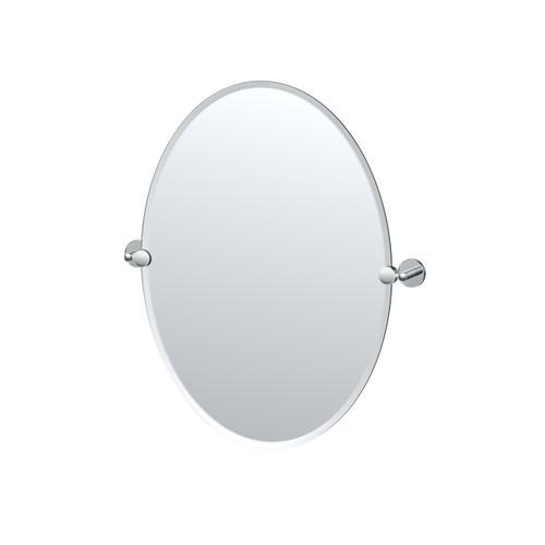 Sky Oval Mirror in Chrome