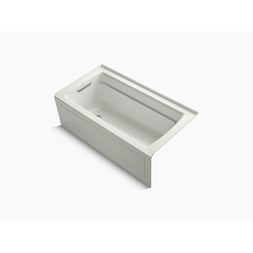 """Dune 60"""" X 32"""" Alcove Bath With Bask Heated Surface, Integral Apron, Integral Flange, and Left-hand Drain"""