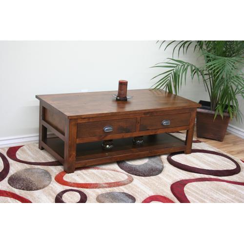 A-R259 Rustic Alder Coffee Table