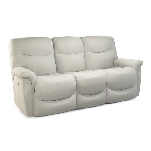 James Power Reclining Sofa w/ Headrest