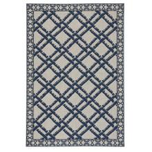 "Finesse-Bamboo Trellis Navy - Rectangle - 5'3"" x 7'6"""