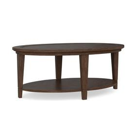 Lewiston Wood Top Oval Cocktail Table