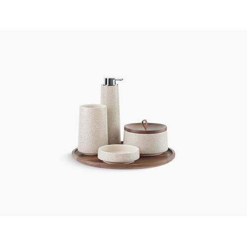 Shagreen Oyster Pearl Five-piece Accessory Set, Oyster Pearl