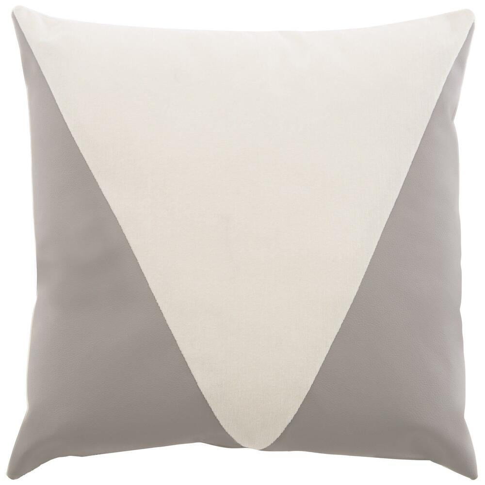 Accent Pillow Square Knife Edge with Triangle