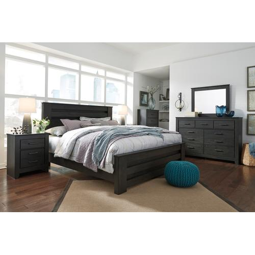 Brinxton - Charcoal 3 Piece Bed (King)
