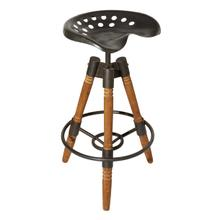 "MTL WD BAR STOOL 18""W, 27""H"