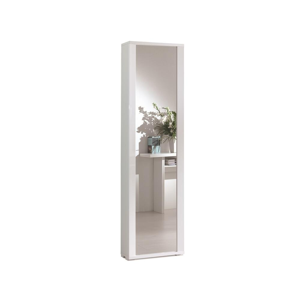 The Bel Air Shoe Rack Part Of Our Kd Collection In White Grain Melamine With Mirror