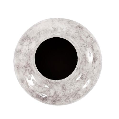 Howard Elliott - Round Gray Marbled Iron Pod Vase, Small