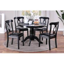 5-pc Dining Set--black