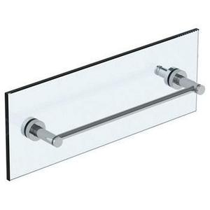 """Loft 2.0 24"""" Shower Door Pull With Knob / Glass Mount Towel Bar With Hook"""