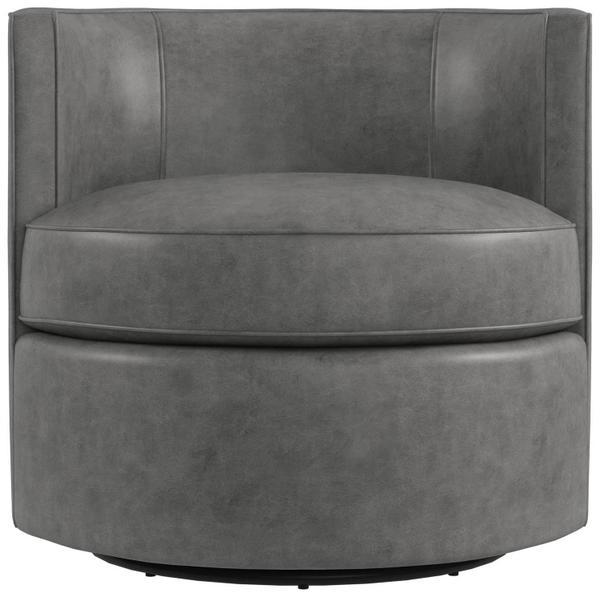 Fleur Leather Swivel Chair