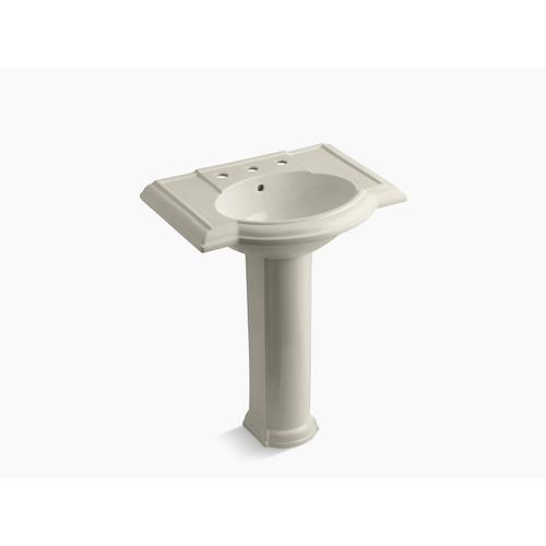 "Sandbar 27"" Pedestal Bathroom Sink With 8"" Widespread Faucet Holes"