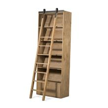 Bookshelf W/ Ladder Configuration Smoked Pine Finish Bane Bookshelf