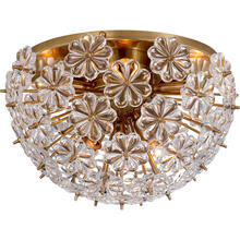 AERIN Lynn 8 Light 17 inch Hand-Rubbed Antique Brass Flush Mount Ceiling Light