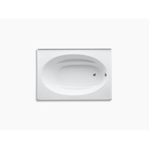 "Biscuit 60"" X 42"" Alcove Bath With Integral Flange and Right-hand Drain"