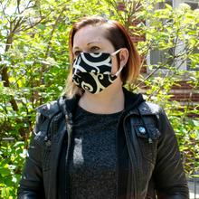 Reusable Face Mask in Cartwheel Tuxedo