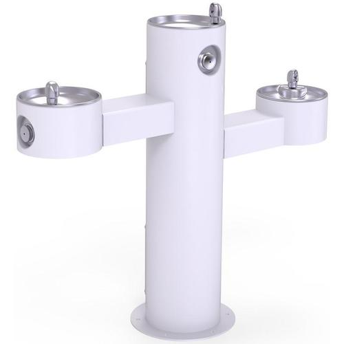 Elkay - Elkay Outdoor Fountain Tri-Level Pedestal Non-Filtered, Non-Refrigerated White