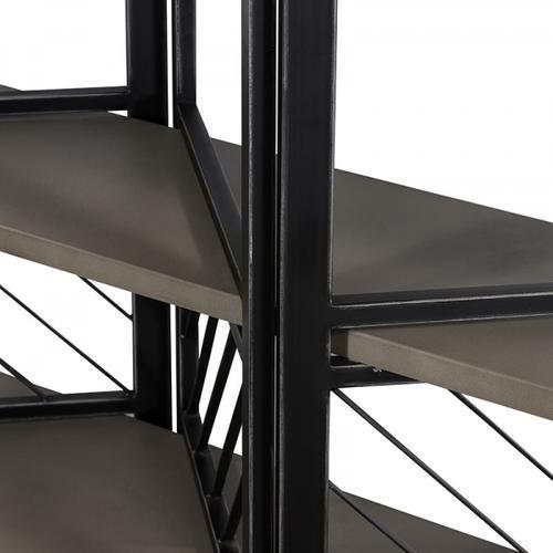VIG Furniture - Modrest Grimaldi Modern Concrete & Black Metal Shelf