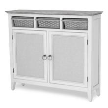 Captiva Island Entry Cabinet with Baskets - Gray Finish