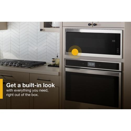 """Whirlpool - 1.1 cu. ft. Built-In Microwave with Slim Trim Kit - 14"""" Height"""