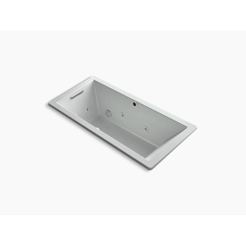 """Ice Grey 66"""" X 32"""" Heated Bubblemassage Air Bath With Whirlpool, Reversible Drain"""