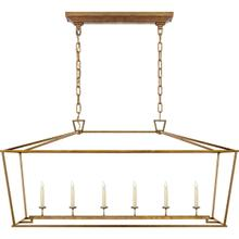 View Product - E. F. Chapman Darlana 6 Light 54 inch Gilded Iron Linear Pendant Ceiling Light