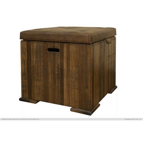 Trunk End Table w/ Cushion Top