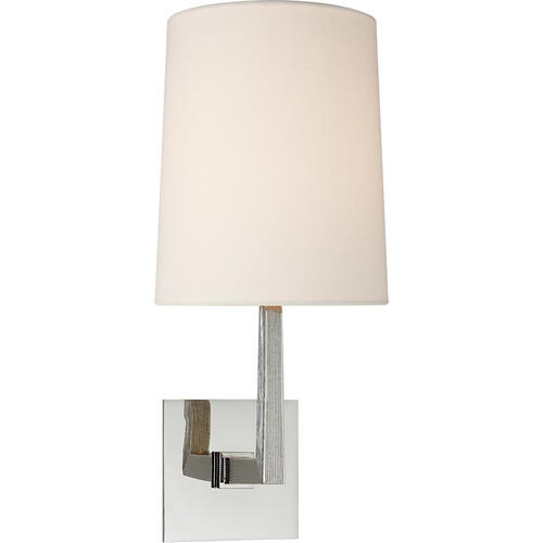 Barbara Barry Ojai 1 Light 7 inch Polished Nickel Sconce Wall Light, Medium