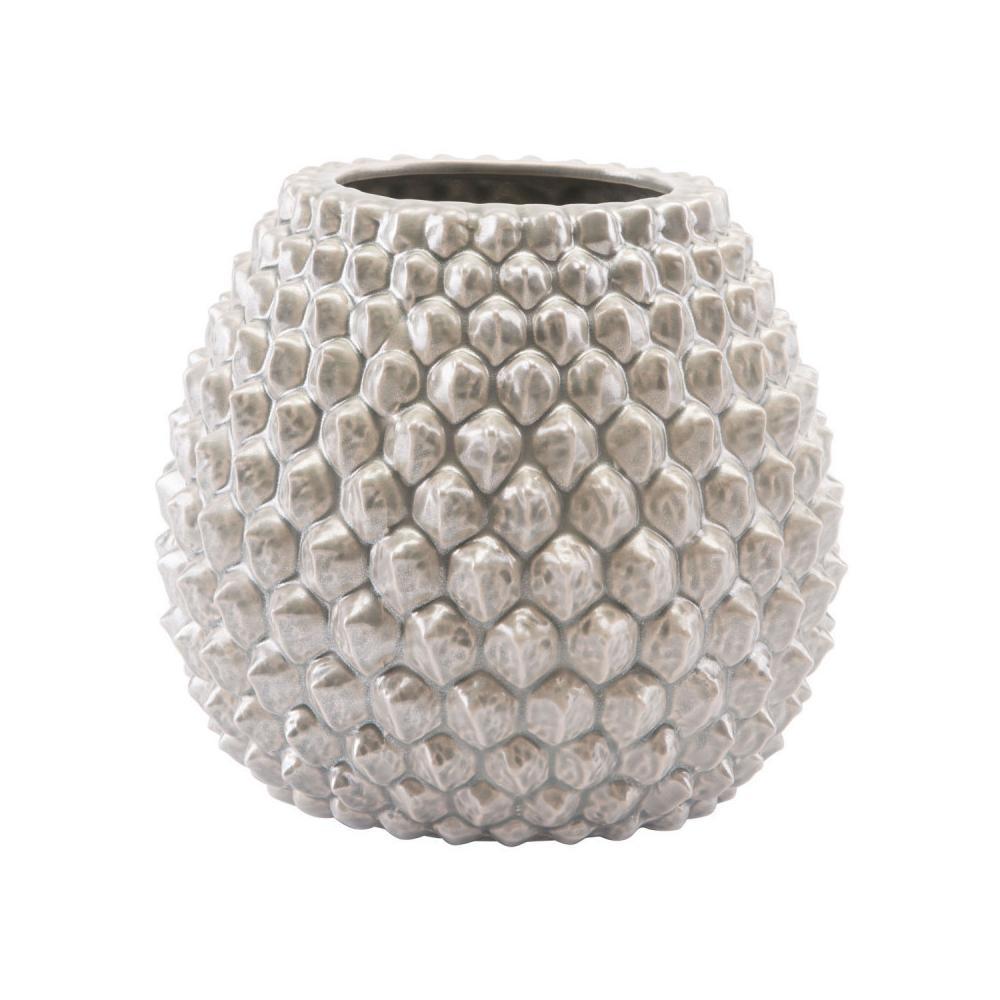 Short Pinecone Vase Antique Silver