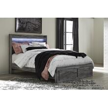 Baystorm - Gray 4 Piece Bed (Queen)