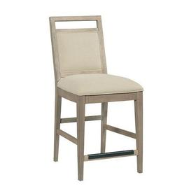The Nook Heathered Oak Counter Height Upholstered Chair