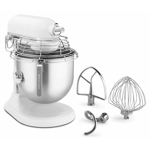 Gallery - NSF Certified® Commercial Series 8 Quart Bowl-Lift Stand Mixer with Stainless Steel Bowl Guard - White