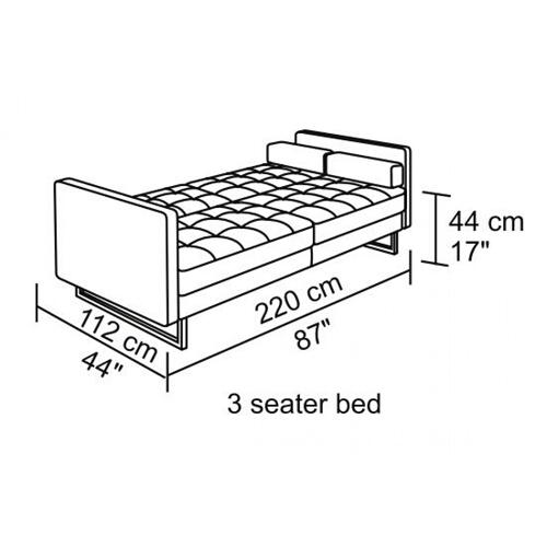 VIG Furniture - Divani Casa Bauxite Modern Grey Fabric Sofa Bed