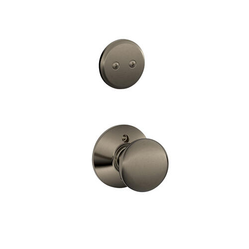 Plymouth In-active Handleset and Plymouth Knob - Antique Pewter