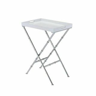 ACME Lajos Tray Table - 98275 - White & Chrome