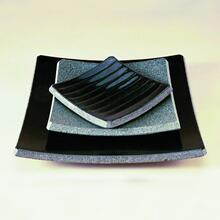 Stone Plateware Plate 10.5X10.5 Sold Out / Black Granite