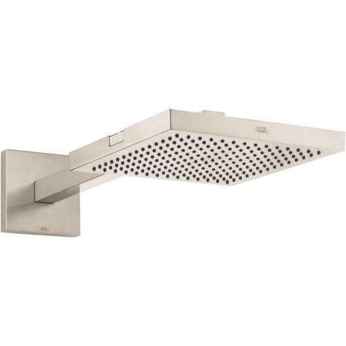 Brushed Nickel Showerhead 240 1-Jet with Showerarm Trim, 2.5 GPM