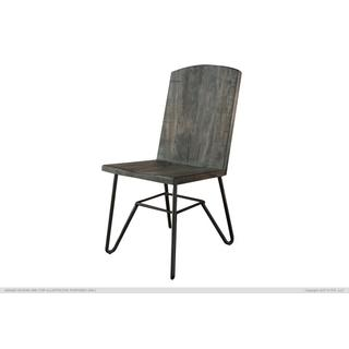 See Details - Solid Parota Chair w/ Iron base, Moro finish